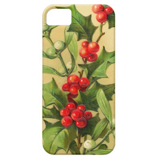 Vintage Christmas Holly iPhone 5 Case