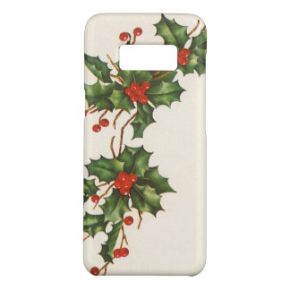 Vintage Christmas, Holly Plant with Red Berries Case-Mate Samsung Galaxy S8 Case