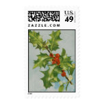 Vintage Christmas Holly Stamps