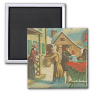 Vintage Christmas Homecoming Magnet