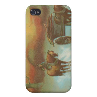 Vintage Christmas Horse Buggie iPhone 4/4S Cover