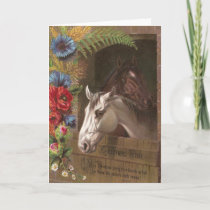 Vintage Christmas Horse Holiday Card