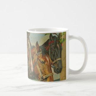 Vintage Christmas Horses Mug