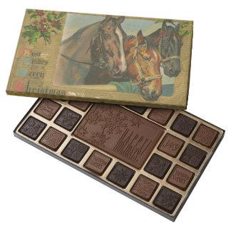 Vintage Christmas Horses 45 Piece Box Of Chocolates