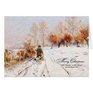 Vintage Christmas Hunter | Winter Card