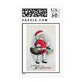 Vintage Christmas Image Postage
