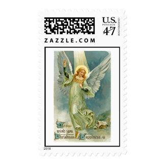 Vintage Christmas Image Postage Stamp