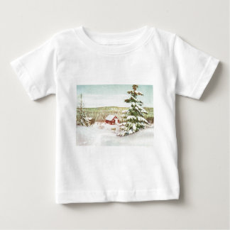 Vintage Christmas in Norway, 1950 Baby T-Shirt