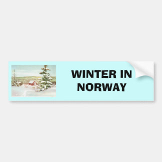 Vintage Christmas in Norway, 1950 Bumper Stickers