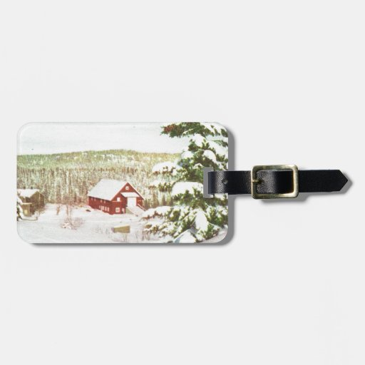 Vintage Christmas in Norway, 1950 Tag For Bags