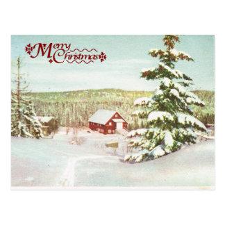 Vintage Christmas in Norway, 1950 Postcard
