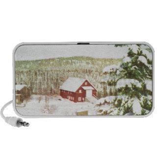 Vintage Christmas in Norway 1950 Mini Speakers