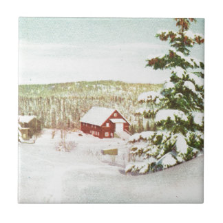 Vintage Christmas in Norway, 1950 Tile