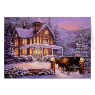 Vintage Christmas In The Country Card