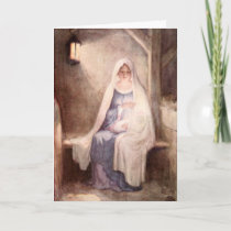 Vintage Christmas Jesus and Mary Holiday Card