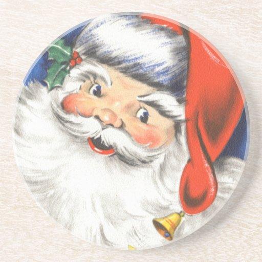 Vintage Christmas Jolly Merry Santa Claus w Music Coaster