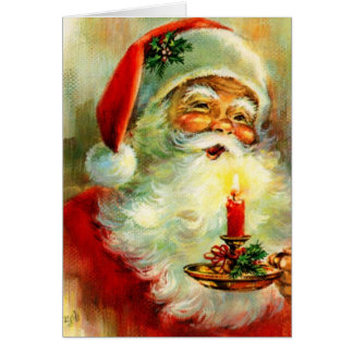 Vintage Christmas Jolly Santa Card