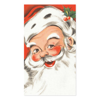 Vintage Christmas, Jolly Santa Claus Double-Sided Standard Business Cards (Pack Of 100)