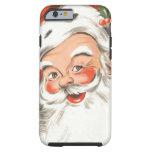 Vintage Christmas, Jolly Santa Claus Tough iPhone 6 Case