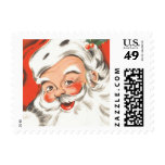 Vintage Christmas, Jolly Santa Claus Postage Stamps