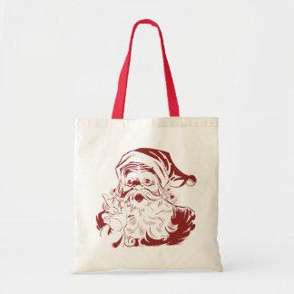 Vintage Christmas, Jolly Santa Claus RED Bag