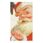 Vintage Christmas, Jolly Santa Claus with a Secret Business Card Templates