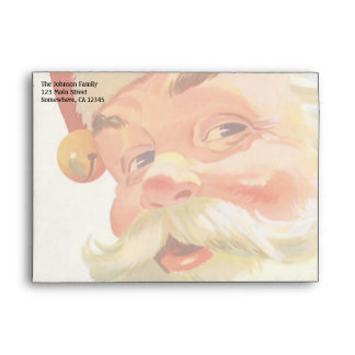 Vintage Christmas, Jolly Santa Claus with a Secret Envelope