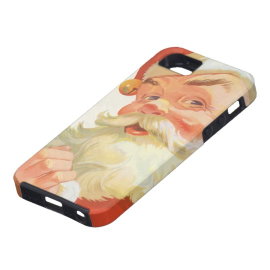 Vintage Christmas, Jolly Santa Claus with a Secret iPhone SE/5/5s Case