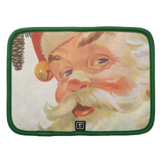 Vintage Christmas, Jolly Santa Claus with a Secret Folio Planner