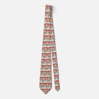 Vintage Christmas, Jolly Santa Claus with His Hat Tie