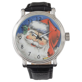 Vintage Christmas, Jolly Santa Claus with Music Wristwatch