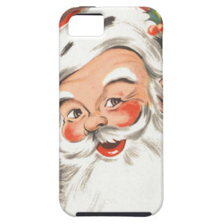 Vintage Christmas, Jolly Santa Claus with Smile iPhone 5 Case