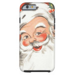 Vintage Christmas, Jolly Santa Claus with Smile Tough iPhone 6 Case