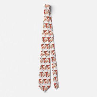 Vintage Christmas, Jolly Santa Claus with Smile Neck Tie