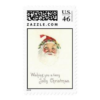 Vintage Christmas Jolly Santa Postage