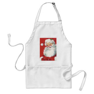Vintage Christmas, Jolly Winking Santa Claus Adult Apron
