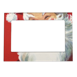 Vintage Christmas, Jolly Winking Santa Claus Magnetic Picture Frame