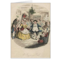 Vintage - Christmas Joy at Mr. Fezziwig's Ball, Card
