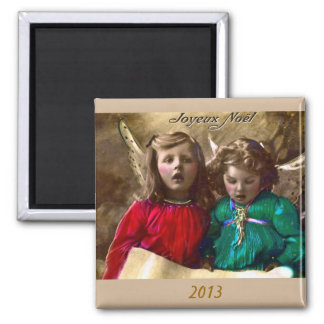 Vintage Christmas Joy to World Singing Angels Magnets