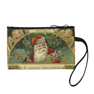 Vintage Christmas Key Coin Clutch Coin Wallets