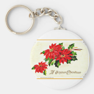 Vintage Christmas Key Chain