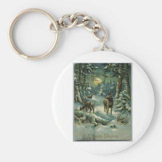 Vintage Christmas Keychain