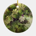 Vintage Christmas Leaf Pattern Christmas Ornament