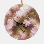 Vintage Christmas Leaf Pattern Ornaments