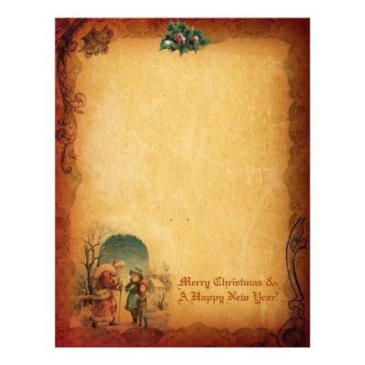 Vintage Christmas Letter Paper Letterhead | Zazzle