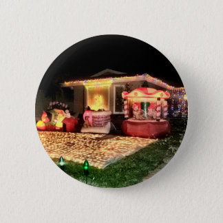 Vintage Christmas Lights and Decorations Pinback Button