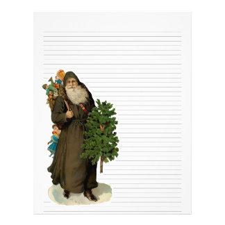 Vintage Christmas Lined Letterhead Stationery