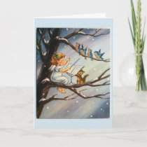 Vintage Christmas - Little Angel & Her Musicians, Card