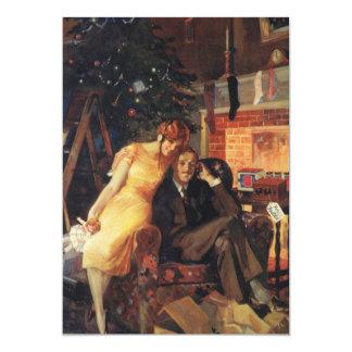 Vintage Christmas, Love and Romance Couple Card