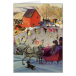 Vintage Christmas, Love and Romance Greeting Card